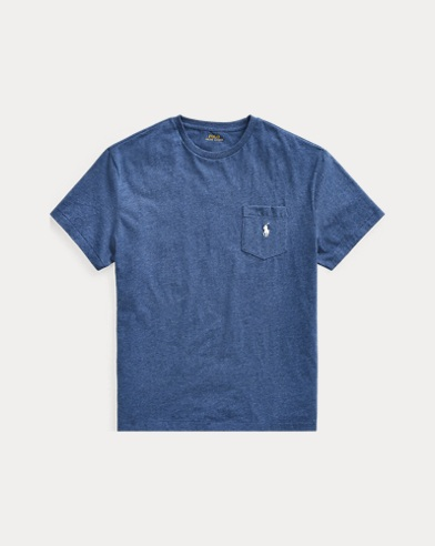 폴로 랄프로렌 Polo Ralph Lauren Classic Fit Pocket T-Shirt,Derby Blue Heather