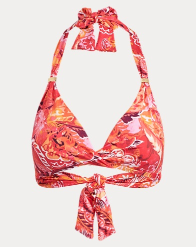 Paisley Twisted Halter Top