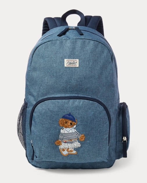 0d7572670b Girls Polo Bear Campus Backpack 1