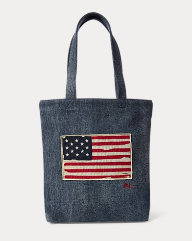 American Flag Weekend Tote