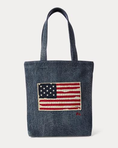 American Flag Weekend Tote