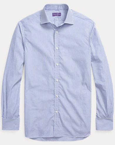Striped French-Cuff Shirt