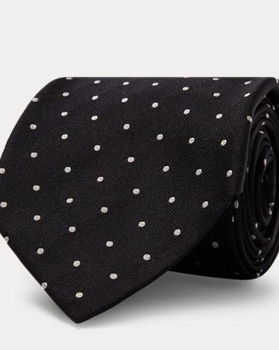 Polka-Dot Woven Silk Tie
