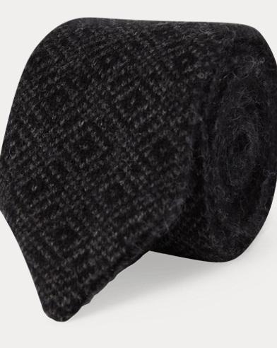 Zigzag Knit Cashmere Tie