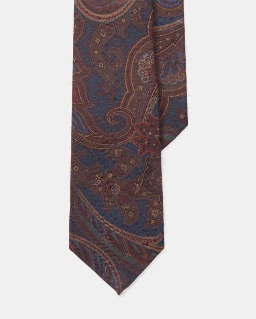 Purple Label Paisley Cashmere-Silk Tie 4