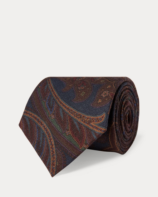Purple Label Paisley Cashmere-Silk Tie 1