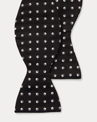 Dot Silk Jacquard Bow Tie