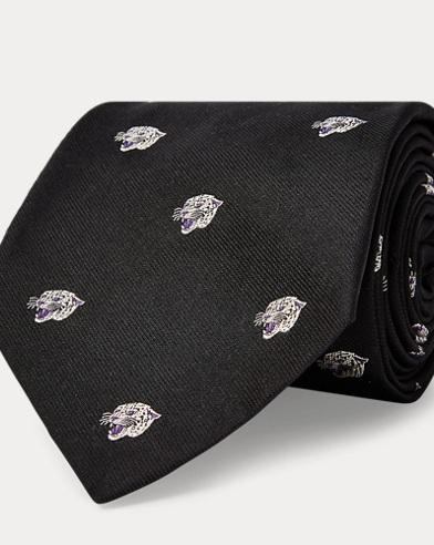 Jaguar Silk Jacquard Tie