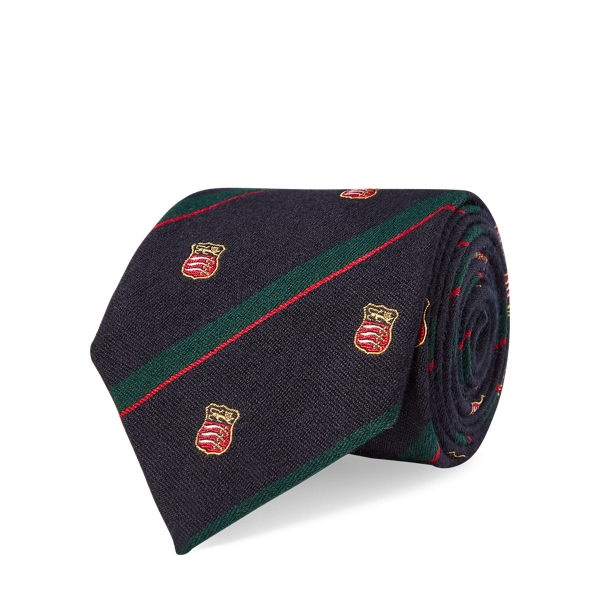 Ralph Lauren Regimental-Stripe Club Tie Navy One Size