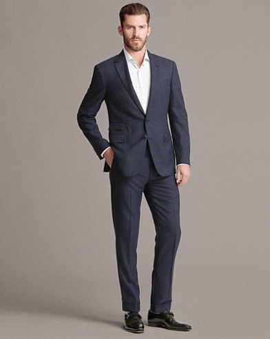 Glen Plaid Wool-Cashmere Suit
