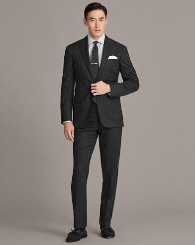 Gregory Striped Wool Suit