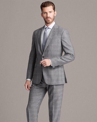 Glen Plaid Wool Twill Suit