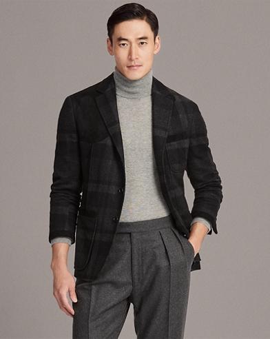 Suede-Trim Cashmere Sport Coat