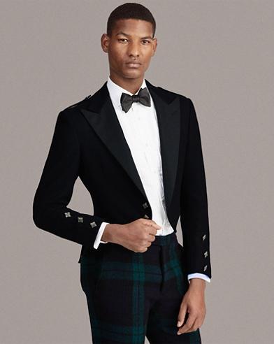 Cropped Melton Tuxedo Jacket