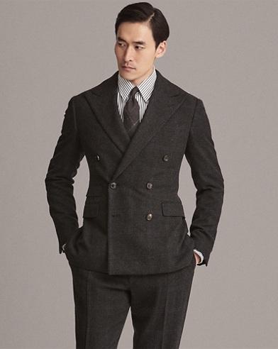 Glen Plaid Wool-Cashmere Suit