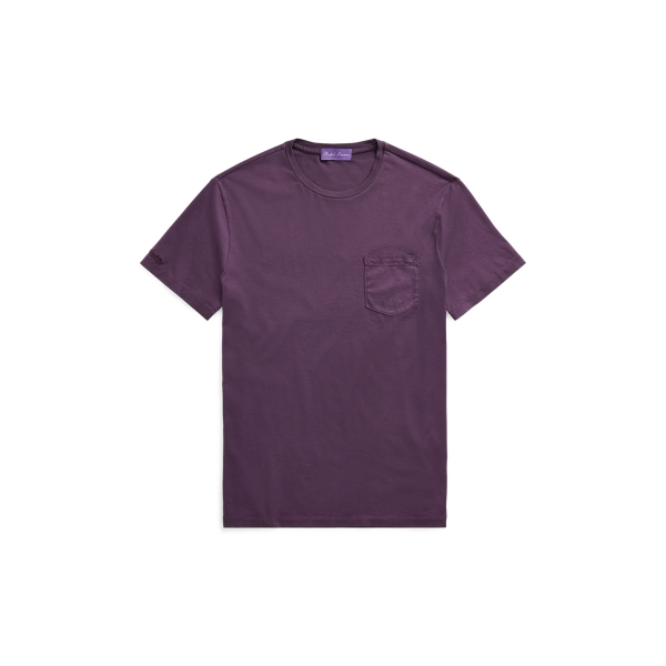 Ralph Lauren Custom Fit Cotton T-Shirt Washed Falmouth Purple S