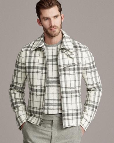 Wool-Alpaca Newsboy Jacket