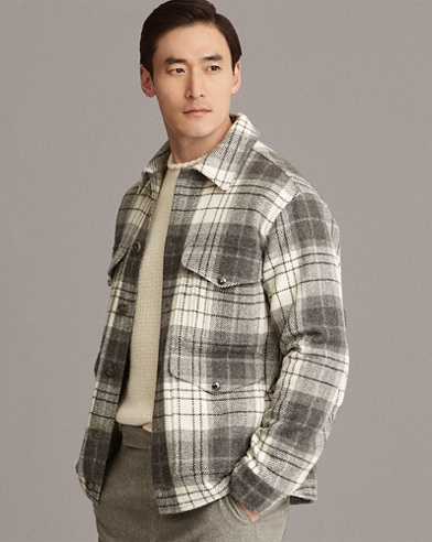Plaid Wool Tweed Jacket