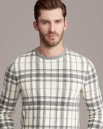 Plaid Cashmere Sweater