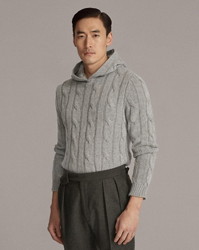 Cable-Knit Cashmere Hoodie