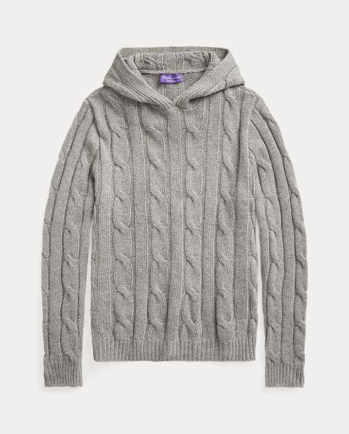 c1178641a Purple Label Cable-Knit Cashmere Hoodie 2
