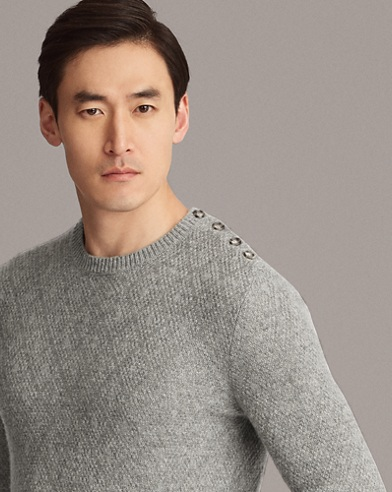 Single-Button Cashmere Sweater
