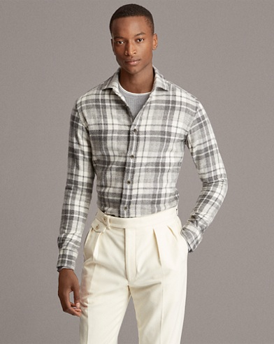 Plaid Cashmere Shirt