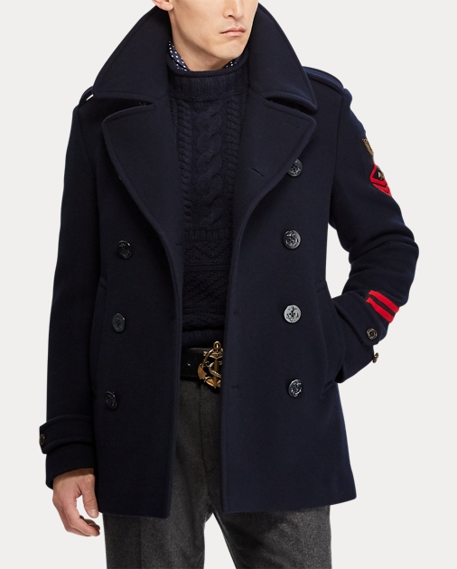 attractivedesigns purchase original uk cheap sale Wool-Cashmere Peacoat