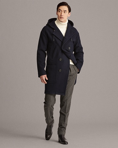 Boiled Wool-Cashmere Peacoat
