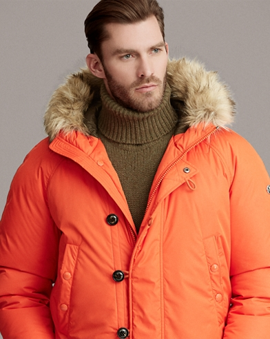 RLX Faux Fur-Trim Down Jacket