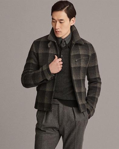 Plaid Wool Newsboy Jacket