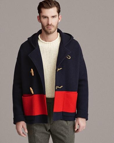 Knit Wool Toggle Jacket