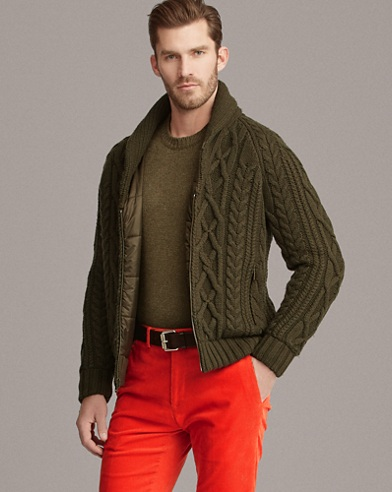 RLX Cable-Knit Hybrid Jacket
