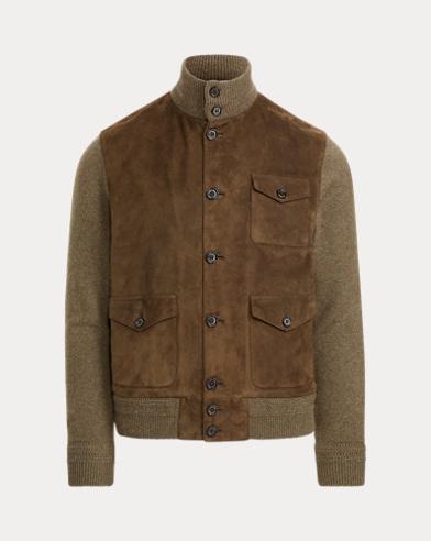 Suede-Cashmere Skeet Jacket