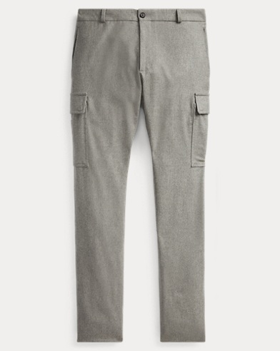 Slim Fit Wool Cargo Trouser