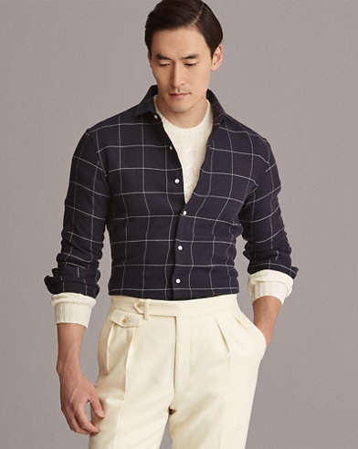 Windowpane Flannel Shirt