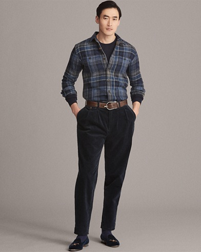 Plaid-Print Jacquard Workshirt