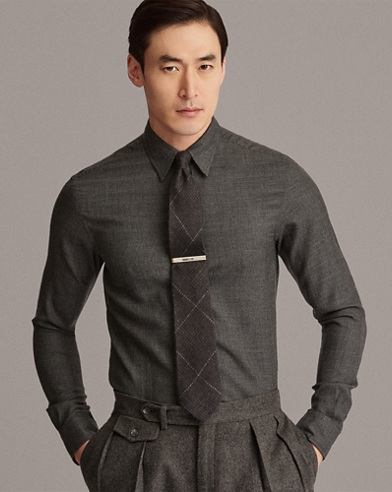 Houndstooth Cashmere Shirt