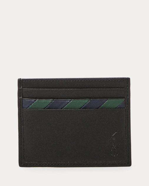 Polo RalphLauren Striped Leather Card Case