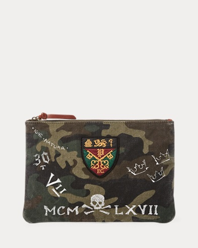Camo Cotton Crest Pouch