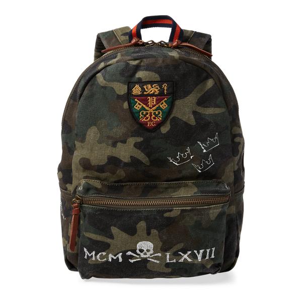 Ralph Lauren Camo Cotton Backpack Camo One Size