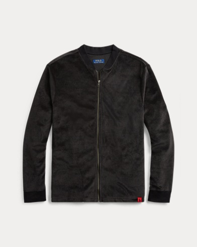 Velour Zip-Up Sleep Top