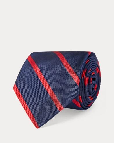 Seidenrips-Krawatte mit Streifen