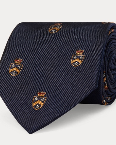 Cravate club étroite en soie
