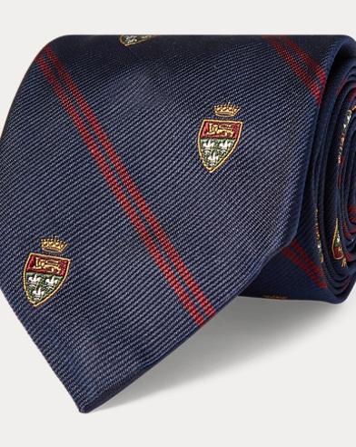 Cravatta Club sottile in seta
