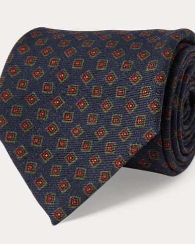 Wool Challis Narrow Tie