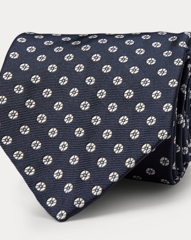 Flower Silk Twill Narrow Tie