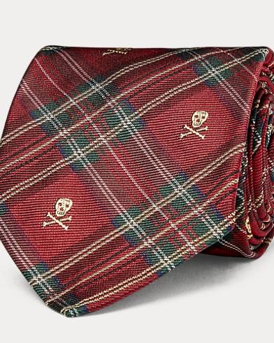 Schmale Krawatte aus Seidentwill