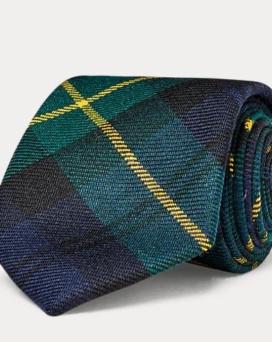 Cravatta sottile in lana tartan