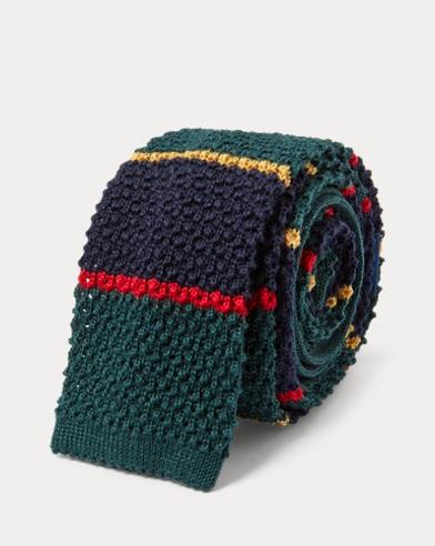 Cravatta in maglia di lana